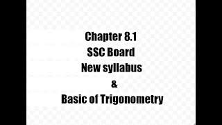 8.1,TRIGONOMETRY,New Syllabus,class 9 SSC Maharashtra