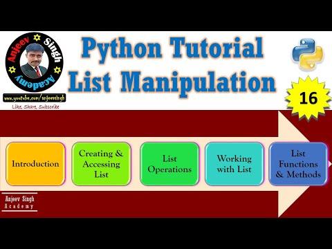 List Manipulation   Python List Tutorial #16   IP   CS thumbnail