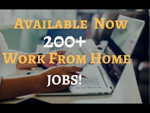200+ Work From Home Jobs I Now Hiring I  US and Global