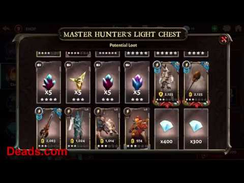 Dungeon Hunter 5 Opening 4 Master Hunters Light Chest Using 4 Accounts 1/28/2018. By Ettin Deads DH5