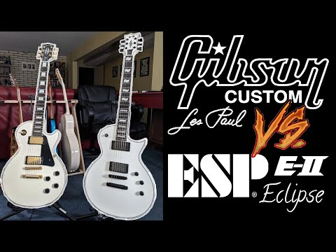 Gibson Custom Shop Les Paul Vs ESP E-II Eclipse Tone Comparison