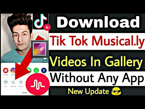 How To Download Tik Tok Musically Videos In Phone Gallery Without Any App | Tik Tok Download Update