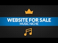 Website For Sale - $1.9K/Month in Music Niche, Info Product and Private Affiliate Business