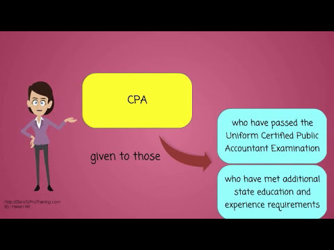 What is a Certified Public Accountant or CPA?