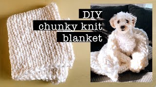 DIY Chunky Knit Blanket *Cozy DIY for Fall*