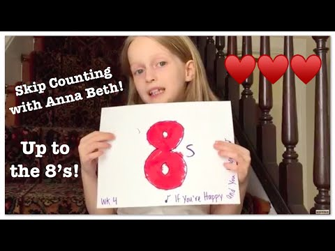 Skip Counting up to the 8s | CC Math Week 1-4