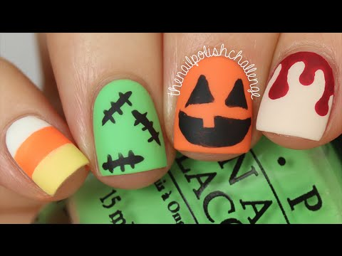 4 EASY HALLOWEEN NAIL ART ... - 4 EASY HALLOWEEN NAIL ART DESIGNS DIY |KELLI MARISSA - YouTube