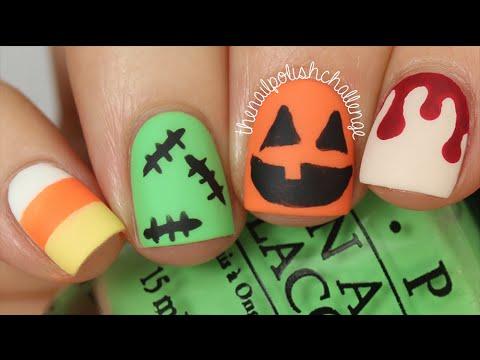 4 easy halloween nail art design