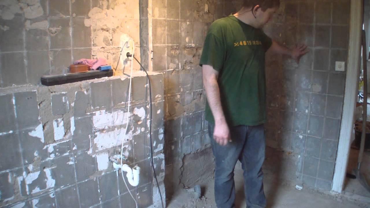 projekt wohnungsbau #3 - unteres bad - alles muss raus - ooturbotv, Badezimmer