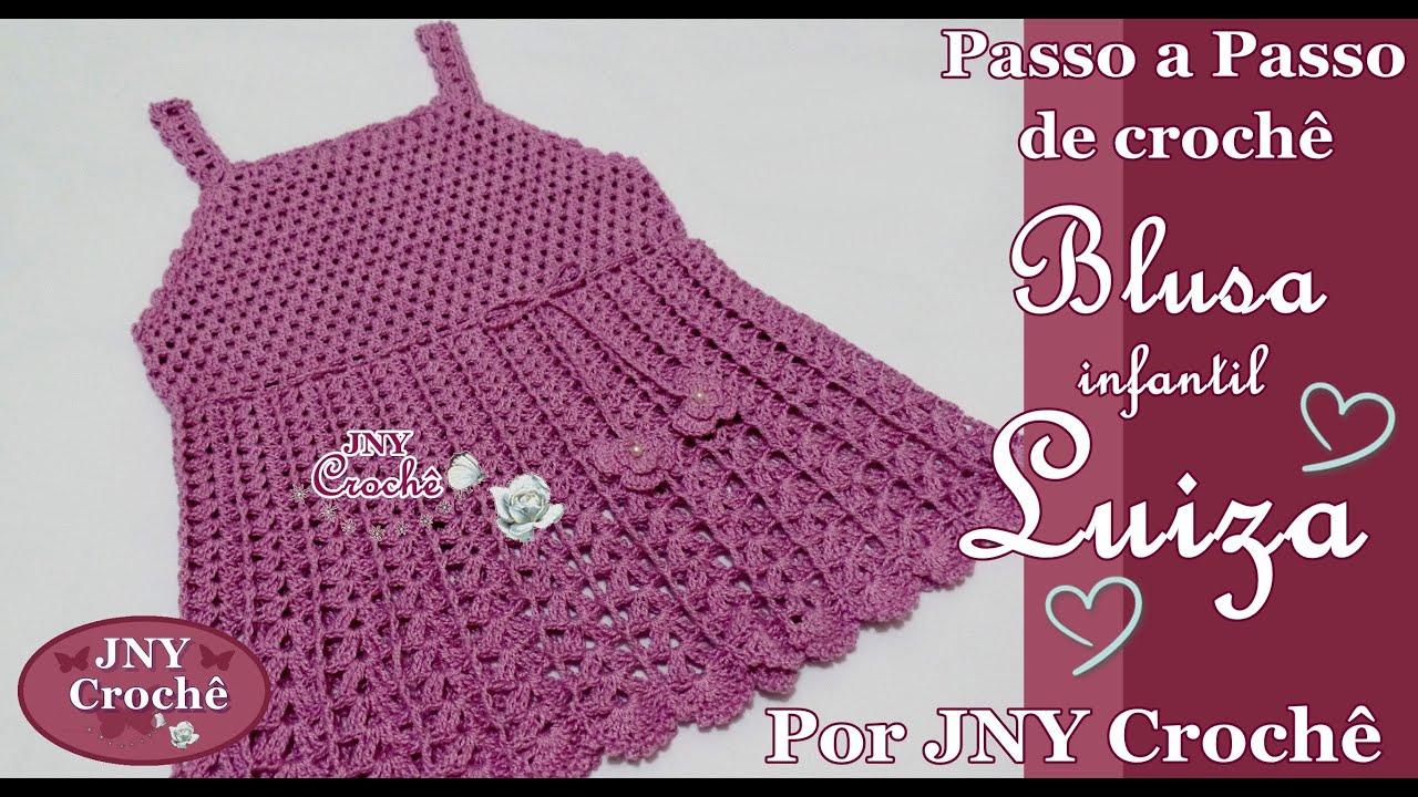 eabfc1e765d PAP Blusa de crochê infantil Luiza (6 a 8 anos) por JNY Crochê