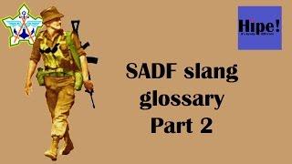 SADF slang glossary Part 2