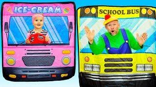 The Wheels On The Bus Song  동요와 아이 노래  어린이 교육