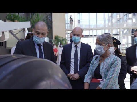 Visite d'Elisabeth Borne, ministre du Travail, à Vélizy - 30/07/2020