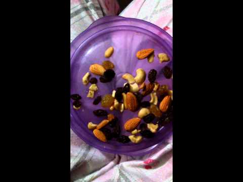 [ASMR] ~ Eating/ Whispering - Dried Fruit Mix