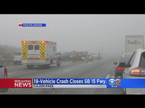 Dozens Hurt In Massive Chain-Reaction Wreck In Cajon Pass - YouTube