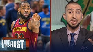 Nick Wright on how Houston's Game 4 win helps LeBron's Cavs vs Boston | NBA | FIRST THINGS FIRST