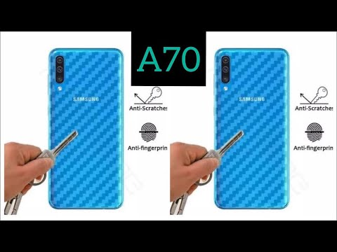 How To install Carbon Sticker Skin For Samsung Galaxy A70