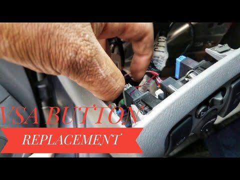 HOW TO REPLACE VSA VEHICLE STABILITY ASSIST SWITCH TUTORIAL QUICK EASY