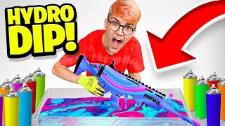 Je CUSTOMISE une SCAR FORTNITE (Hydro dipping)