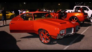 "Veltboy314 - Apple Red 72 Cutlass on 24"" Forgiato  Wheels"