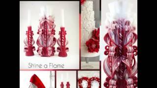 Свадебные свечи ручной работы разные коллекции