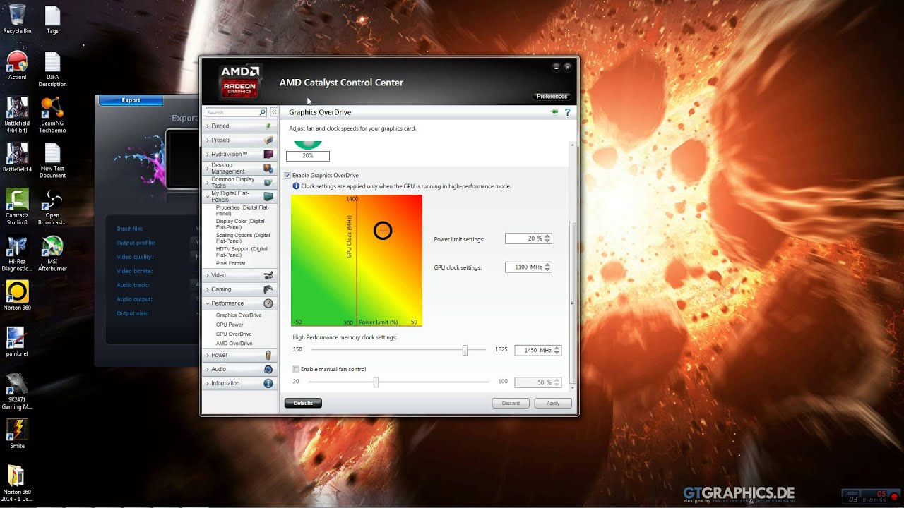 how to overclock ati graphics card
