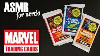 Marvel Trading Cards ASMR - whispering, crinkling, nostalgia