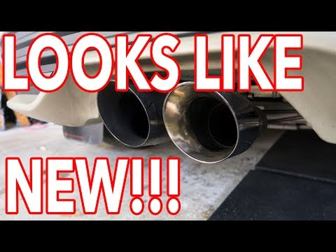 HOW TO CLEAN YOUR EXHAUST TIPS! Looks like NEW!!