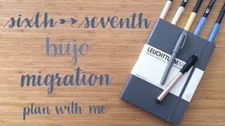 Plan With Me | Migration Process | Sixth into Seventh Bullet Journal