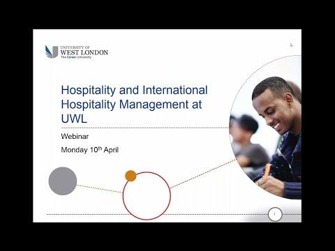 Webinar: Studying Hospitality at the University of West London