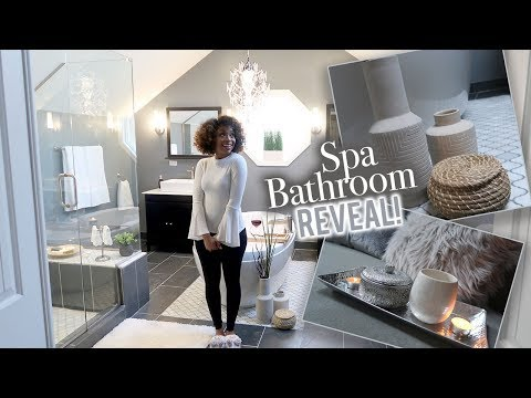 AFFORDABLE SPA BATHROOM BIG REVEAL! | BEFORE & AFTER