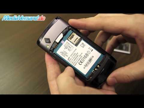 Samsung S8500 Wave SIM-Karte und Akku einsetzen Handy Telefon Mobile