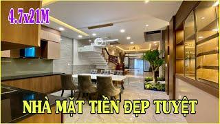 Bán nhà Gò Vấp 659 | Nhà 3.5 lầu 4.7m x 21m Mặt Tiền Đường chủ nhà thiết kế trang trí tuyệt đẹp