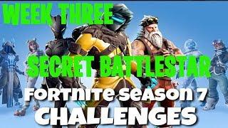 Fortnite Battle Royale | Season 7 Week 3 Challenge | Snowfall Secret Battlestar Location Guide