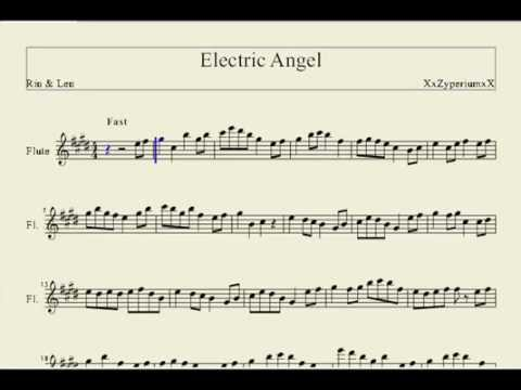 Electric Angel (by Rin and Len) Flute Music Sheet