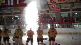 Team USA Trophy Ceremony at 2011 IIHF Men's World U18 Championship