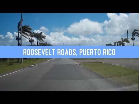 Driving through Roosevelt Roads Naval Station in Puerto Rico