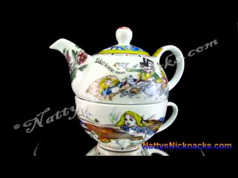 Alice In Wonderland Tea For One Teapot Set Design By Paul Cardew