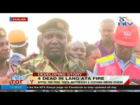 NDMU update on the fire incident at Kijijini area in Lang'ata, Nairobi