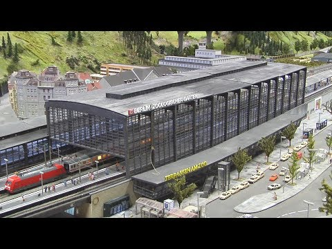 The Great Model Railroad Layout in Berlin with 9,680 square