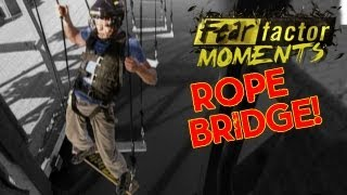 Fear Factor Moments | Swinging Rope Bridge