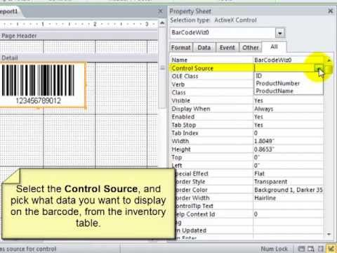 BarCodeWiz ActiveX Control - Create Barcodes in Microsoft Access Reports