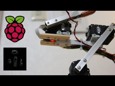 Raspberry Pi Robot Arm with simple Computer Vision + Image Processing pics