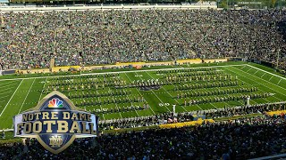Notre Dame marching band performs at halftime against Pittsburgh I NBC Sports