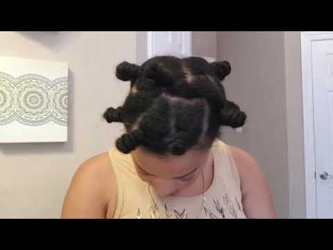 NATURAL HAIR• NO MAKEUP•BANTU KNOT TAKEDOWN!