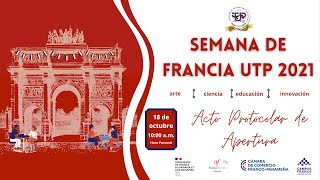 Acto de Apertura · Semana de Francia UTP 2021