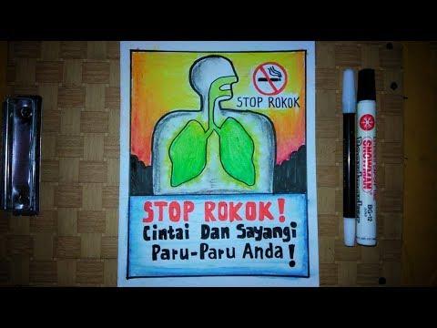 Cara Membuat Gambar Poster Kesehatan Stop Rokok Youtube