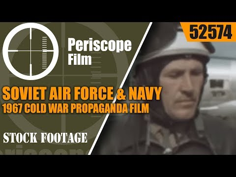 SOVIET AIR FORCE & NAVY  1967 COLD WAR PROPAGANDA FILM 52574