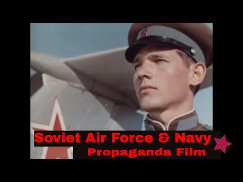 SOVIET AIR FORCE & NAVY  1967 COLD WAR PROPAGANDA FILM 52574