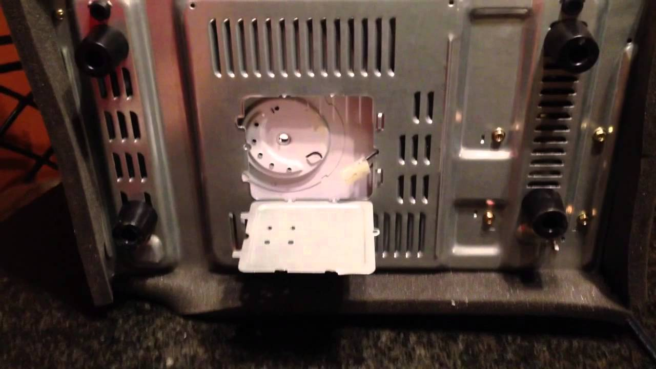 Replacing The Turntable Motor On A Microwave Oven